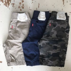 Levi's Elastic Waist Shorts for Boys - Bundle of 3